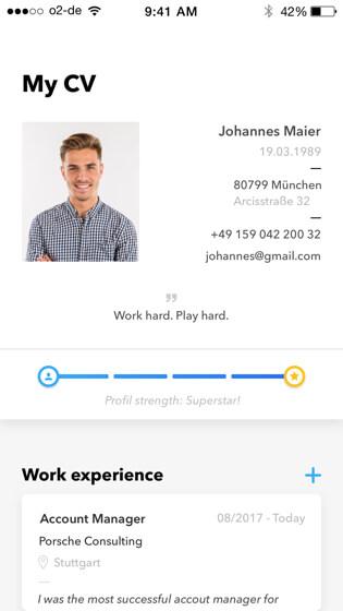 Talentcube candidate CV