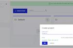Cloudalize screenshot: Cloudalize create project
