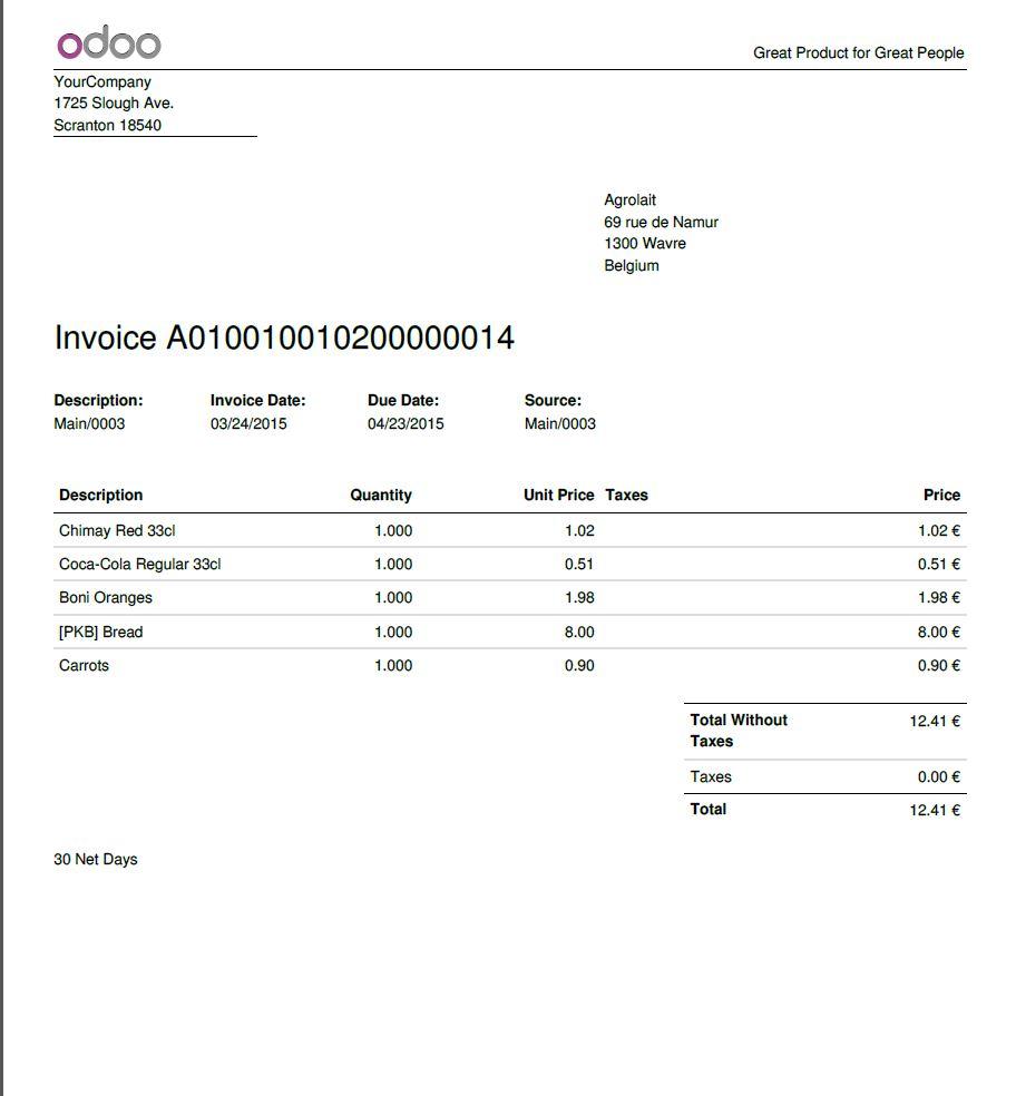Odoo Software - Odoo invoice