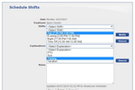 ScheduleAnywhere screenshot: Employee shifts, vacation, training, sick leave, and more can be scheduled