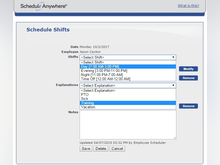 ScheduleAnywhere Software - Employee shifts, vacation, training, sick leave, and more can be scheduled