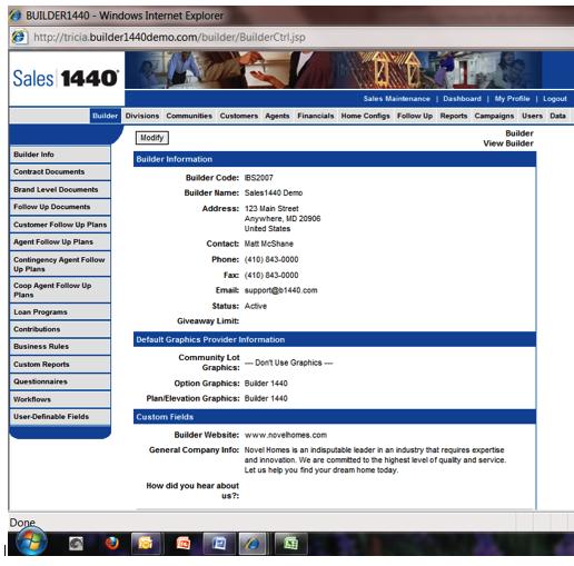 Company Level Main Screen