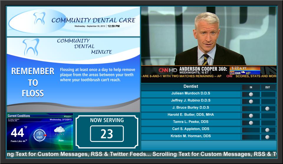 Signera Software - Healthcare / TV Example