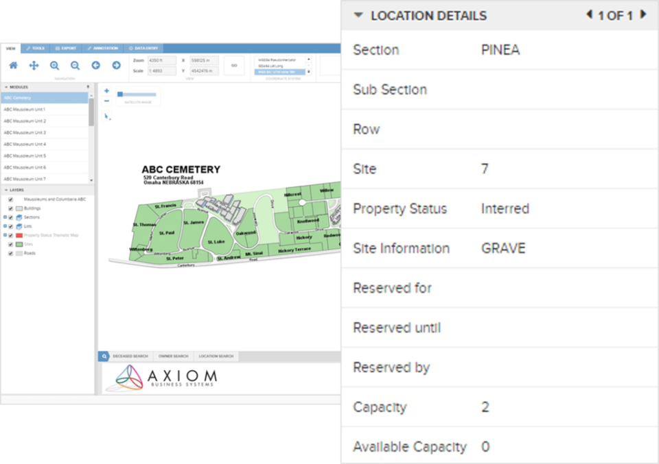 Axiom Cemetery Management Suite Software - 4