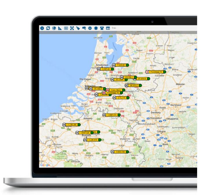 Fleet location map