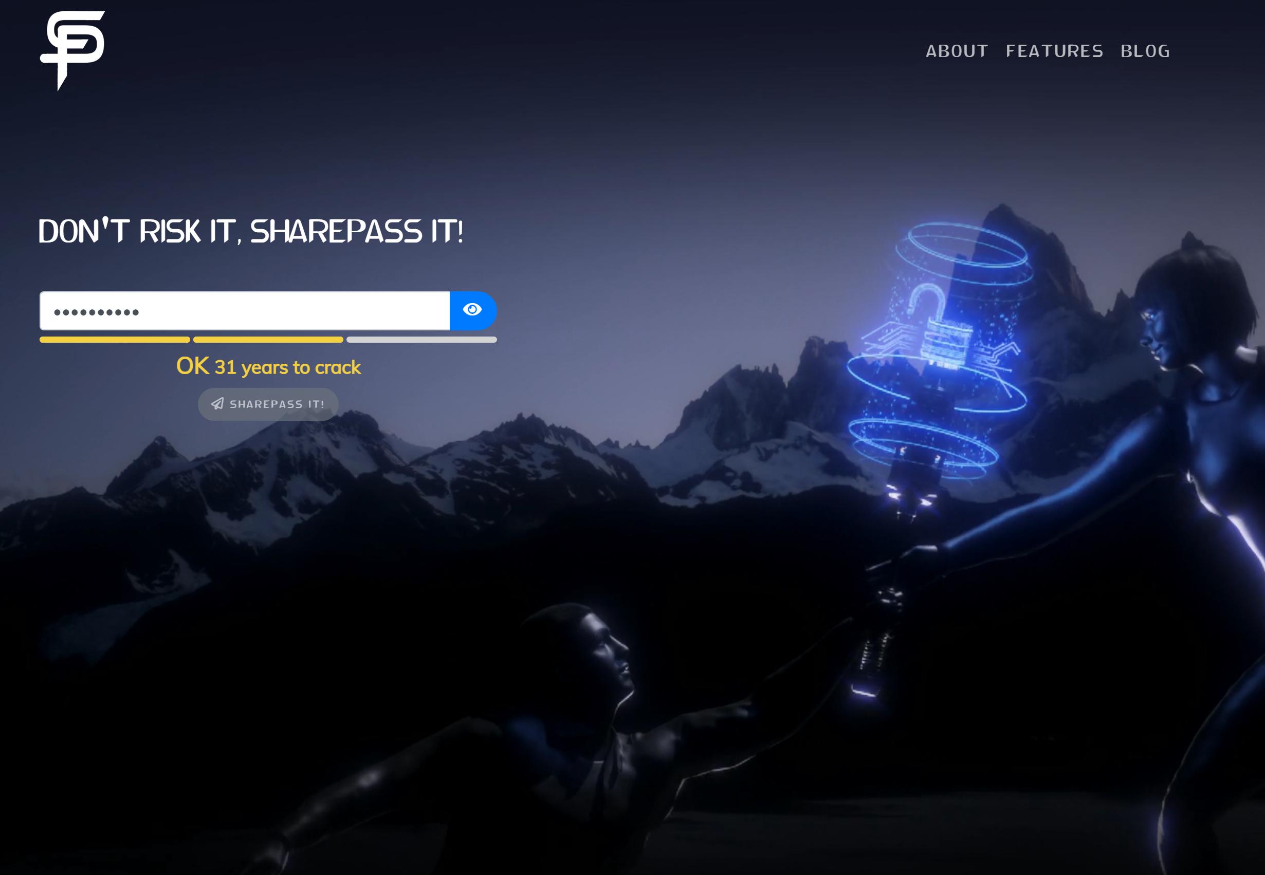 SharePass Software - Secret Sender