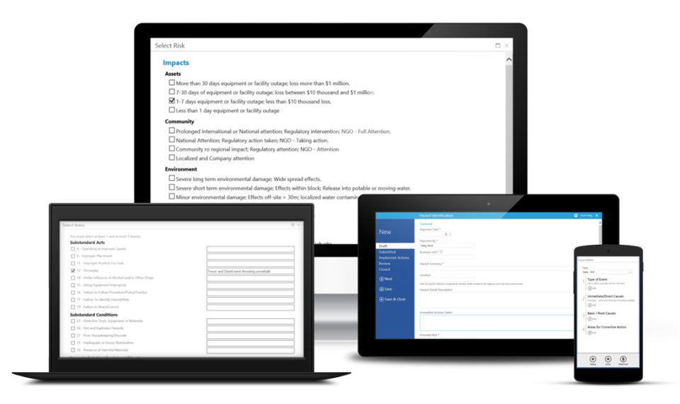 The solution is accessible across multiple device types thanks to a mobile first design