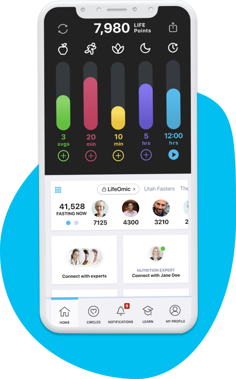 LifeOmic Precision Wellness screenshot: LifeOmic Precision Wellness Mobile App
