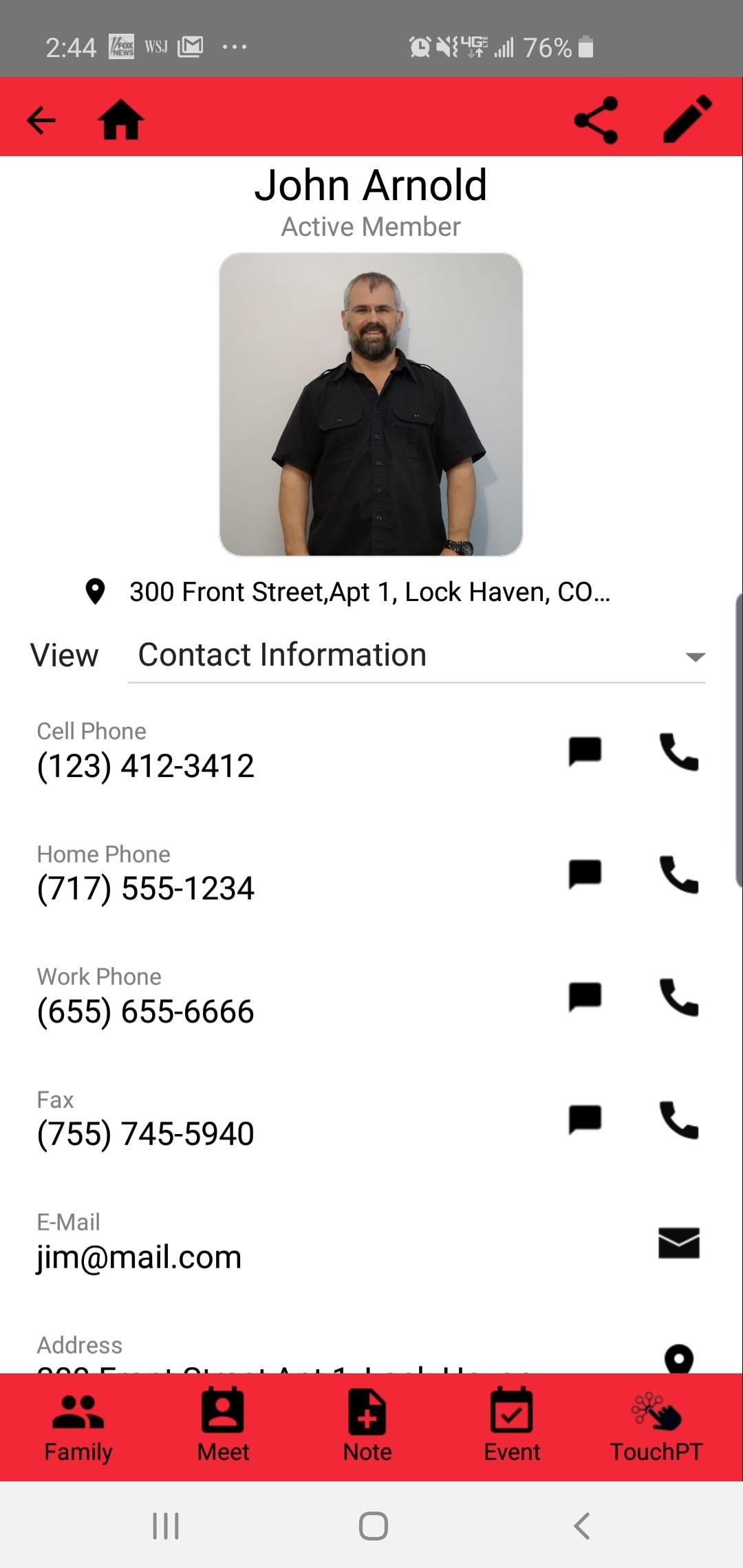 Servant Keeper contact information screenshot