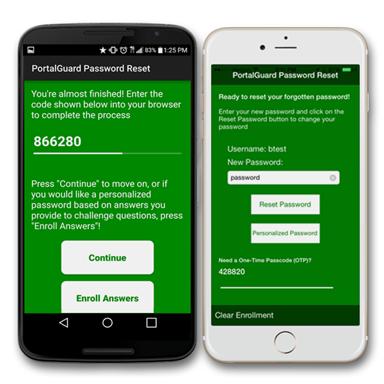 PortalGuard Mobile SSPR App (Android & iPhone)