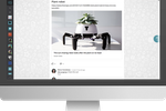 Plek screenshot: Publish a post, comment on other people's posts or tag a colleague to ask for their opinion.