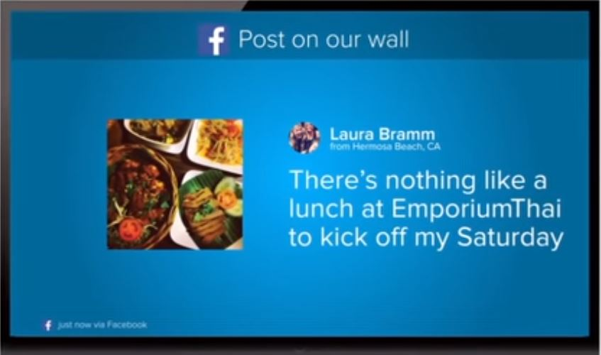 Display Facebook posts