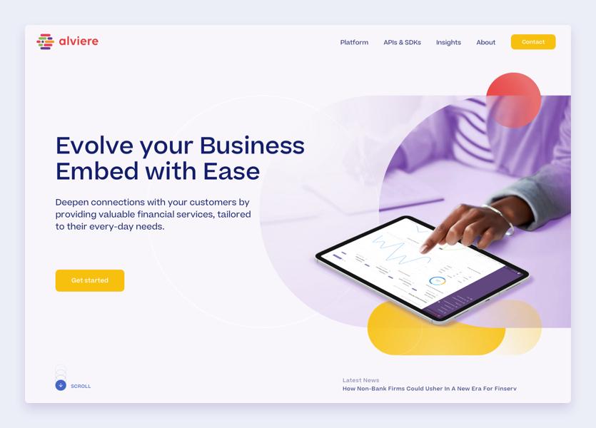 Alviere Homepage