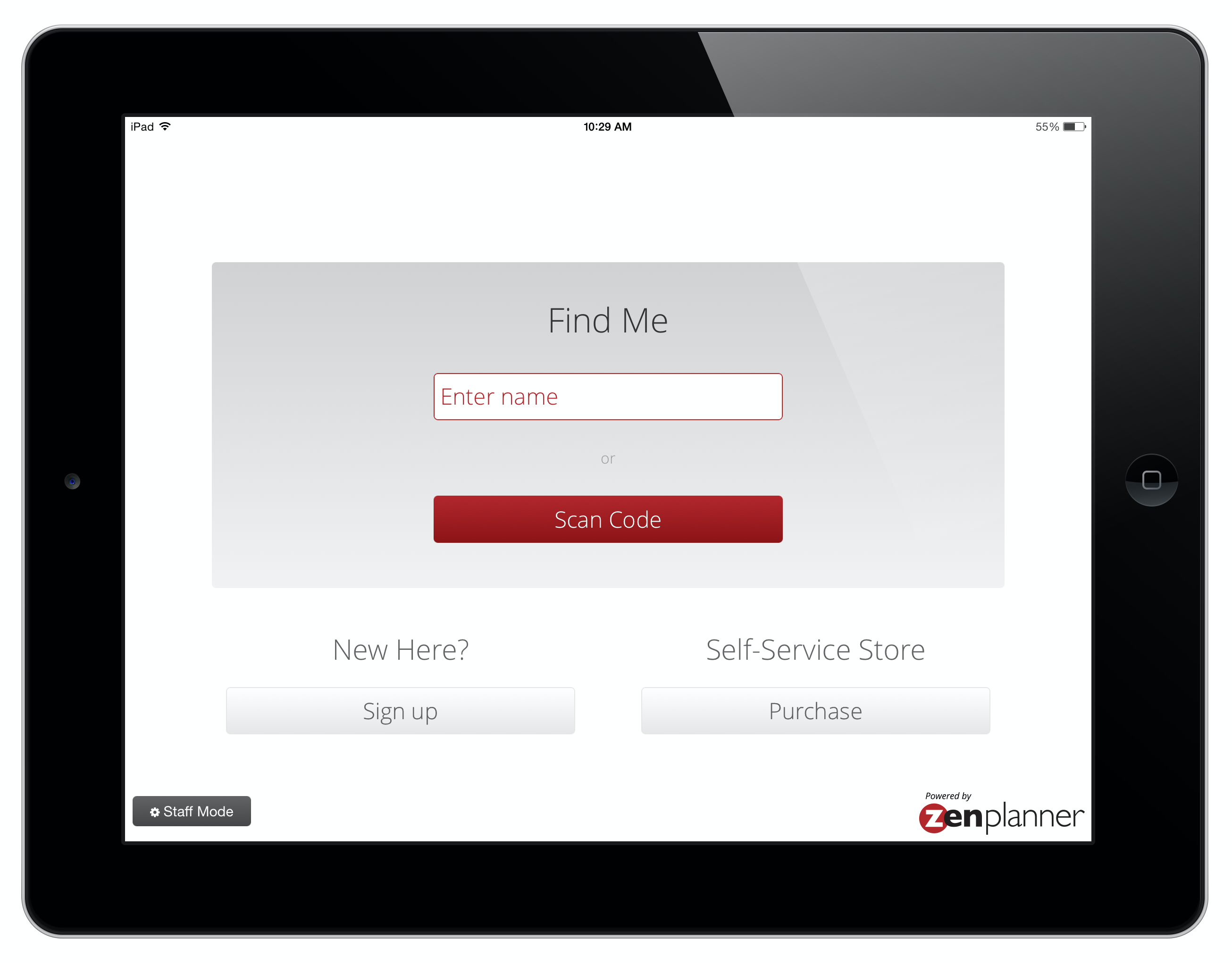 Enhance your members experience in the gym with our Kiosk iPad App