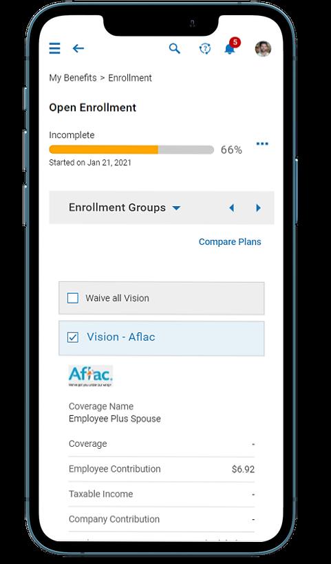 Employee Open Enrollment on Mobile