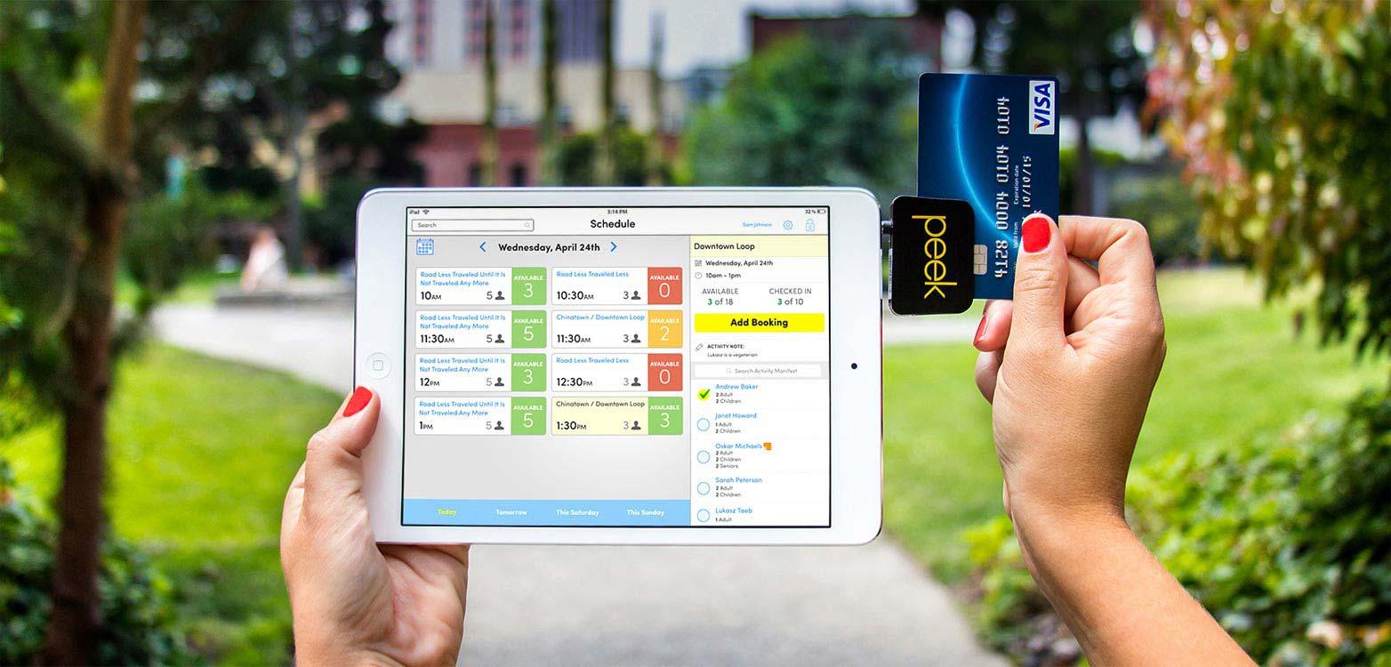 Peek PRO Tour Operator Software screenshot: Peek Pro on iPad