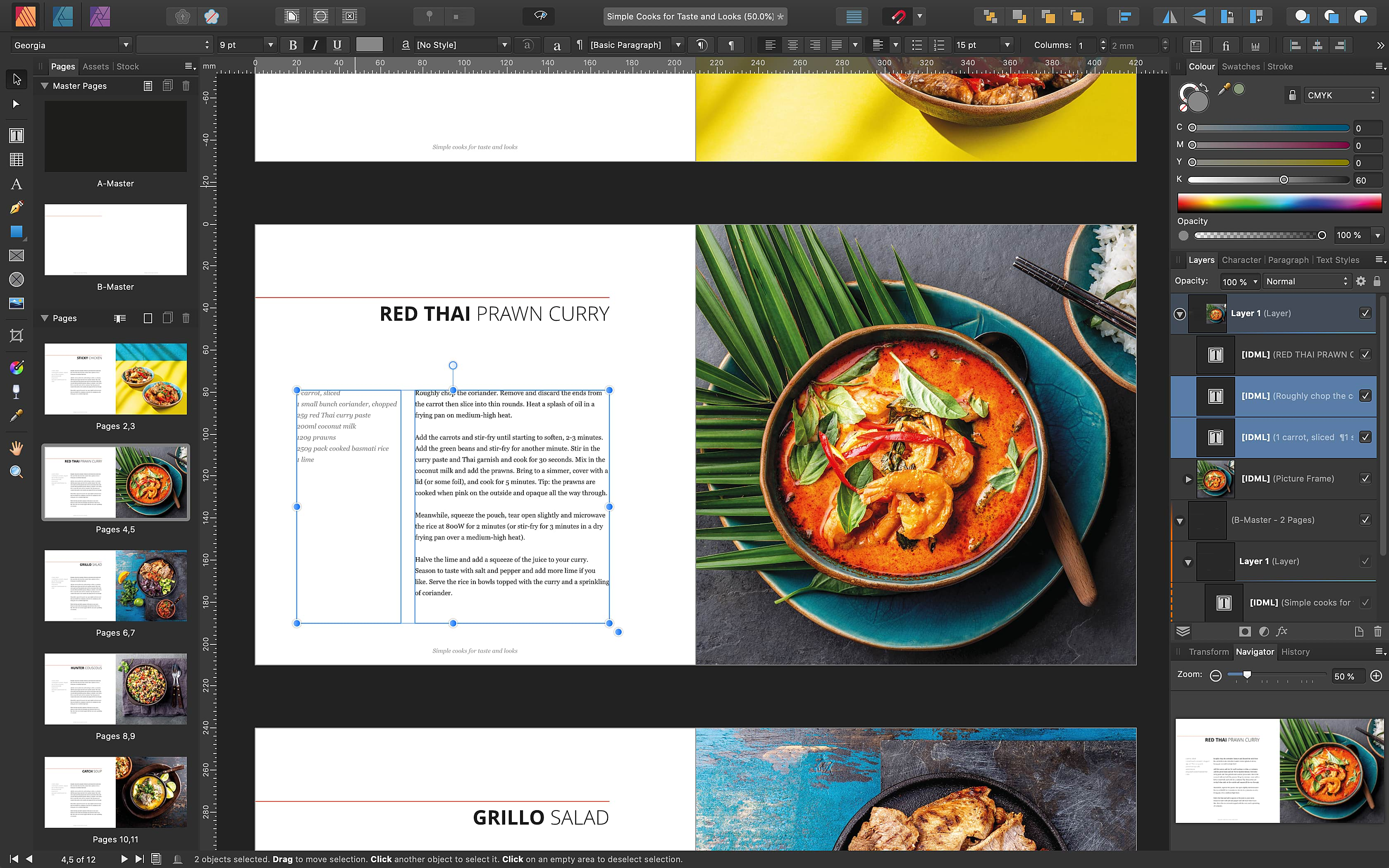 Affinity Publisher facing pages
