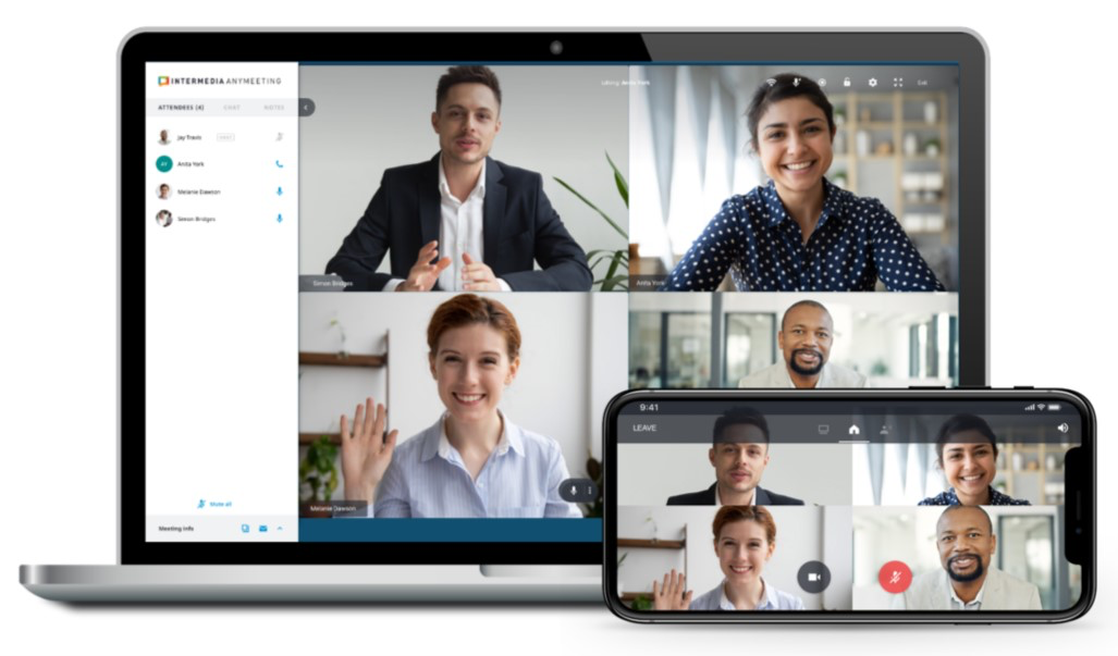 AnyMeeting screenshot: Meet quickly and easily straight from your browser, with all the features you need like screen sharing, integrated conference bridge, HD video conferencing and more.