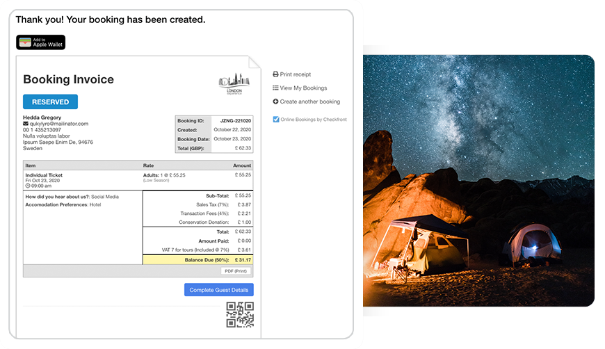 Cut your workload in half. More bookings don't have to mean more work. Automate your repetitive tasks, like sending email confirmations or collecting waiver signatures so that you can focus on your guests.