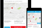 myGeoTracking screenshot: Field workers are able to trigger emergency alerts and managers are informed in real time