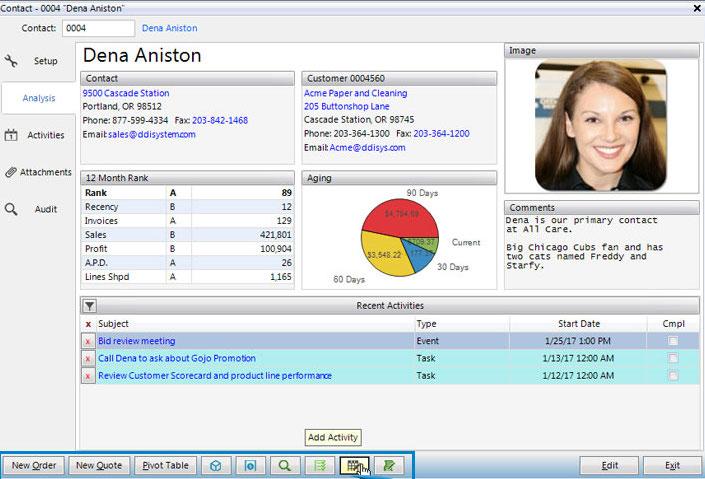 Customer data report