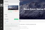 Captura de pantalla de Picatic: Picatic Event Creator. Build your event page and see the changes in realtime.