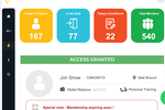 FitnessForce screenshot: FitnessForce access control