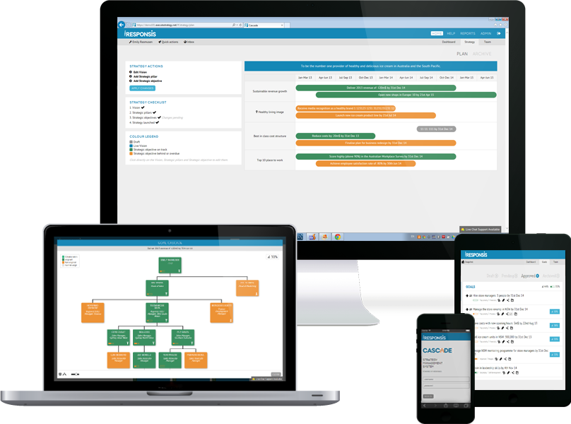Cascade Strategy screenshot: Strategic planning & exec