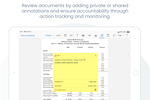 Azeus Convene screenshot: Annotations and Action Items Tracking