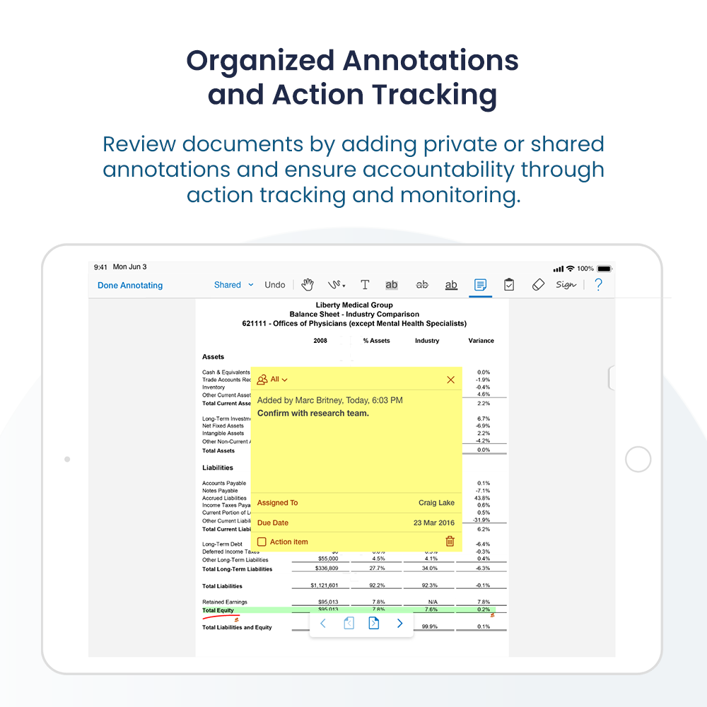 Annotations and Action Items Tracking
