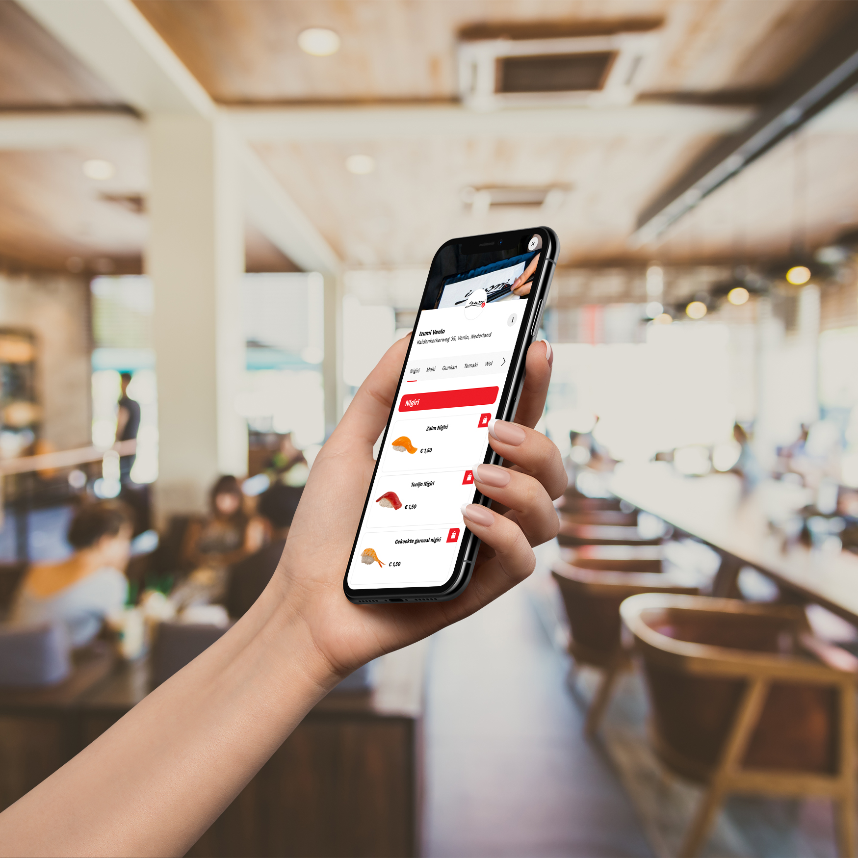 Allow your guests to order and pay from their tables. By scanning a QR-code, the user navigates to the digital menu in the browser, which is customisable to suit your own brand. Work with All-you-can-eat and A-la-carte concepts.