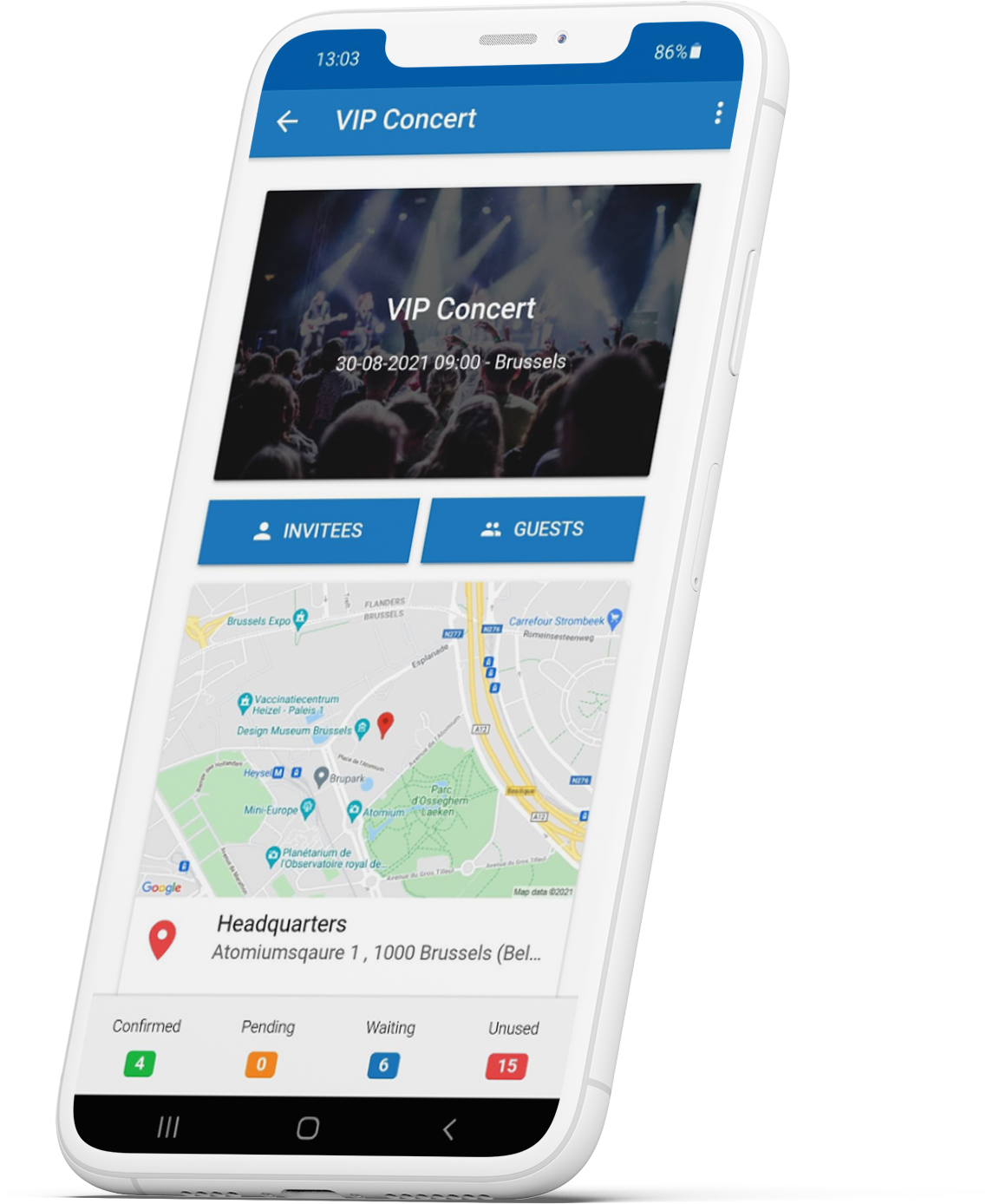 InviteDesk manage events