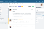 Help Scout Screenshot: Conversation: Help Scout's collaboration features keep everyone on the same page. Happy and productive team members make for happy customers! Add notes, mention team members, see who is responding, and conversation history.