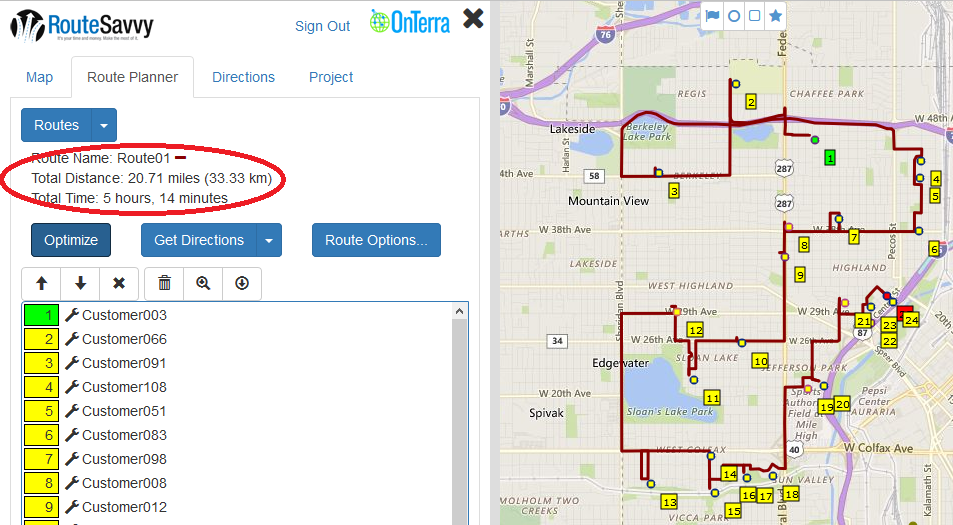 Users can also manually order the stops or over-ride the stop order after optimization