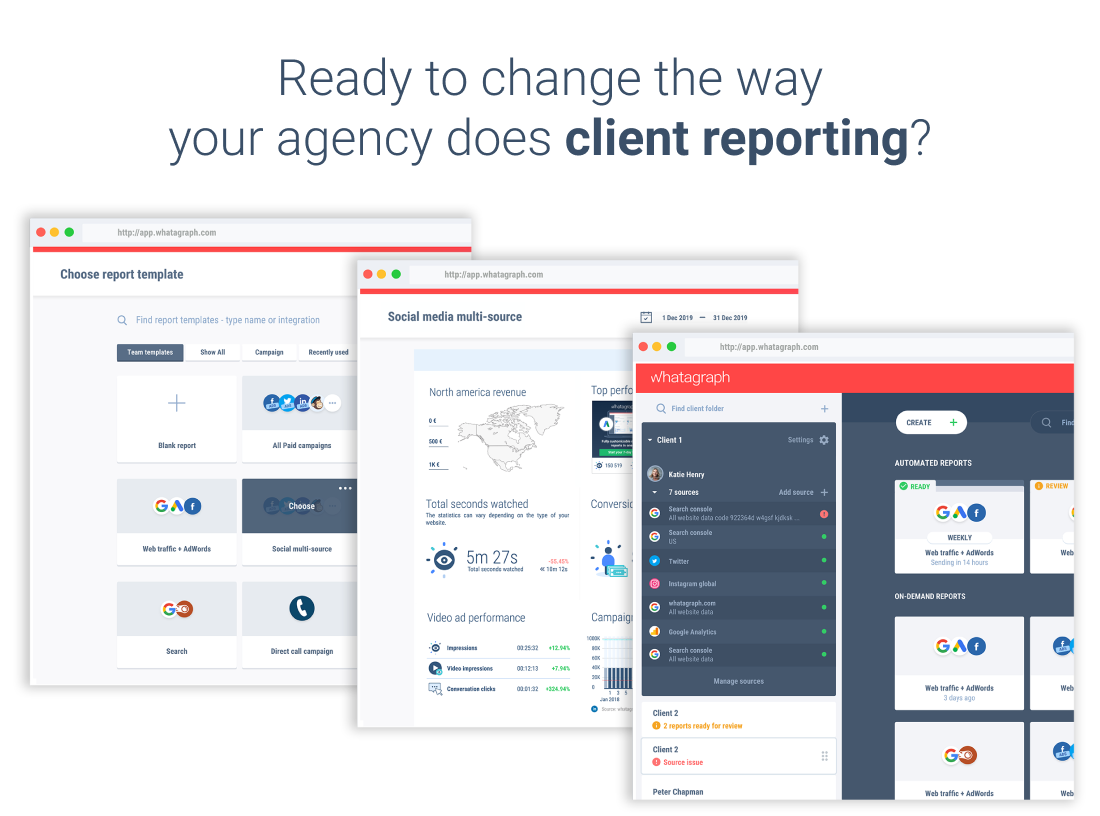 Change processes for client reporting with Whatagraph