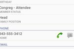 ACS screenshot: ACS member details