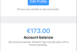 Clickworker screenshot: Clickworker profile