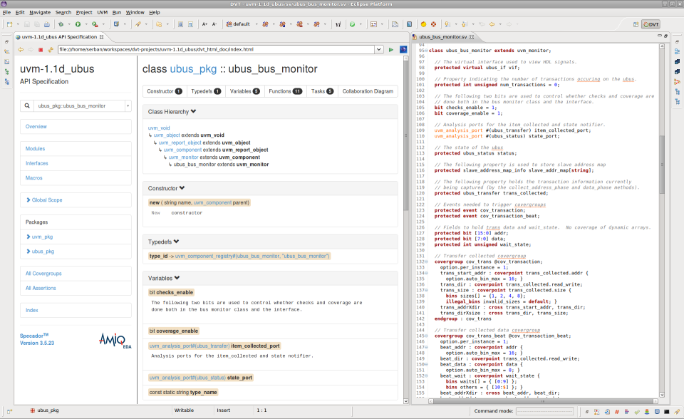 DVT Eclipse IDE generate HTML documentation
