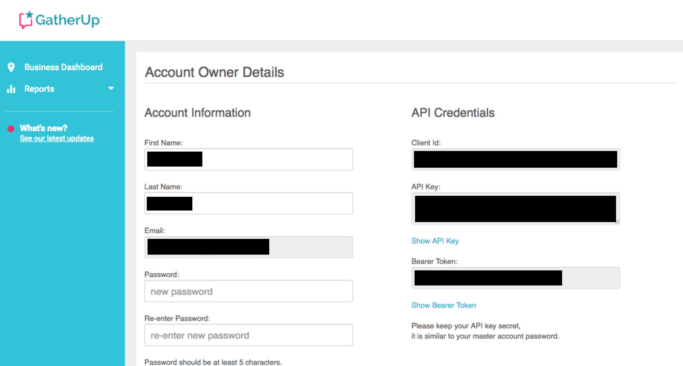 Account information
