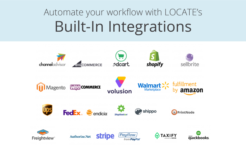 LOCATE Software - Connect to multiple channels and streamline your business with LOCATE's 30+ native integrations.