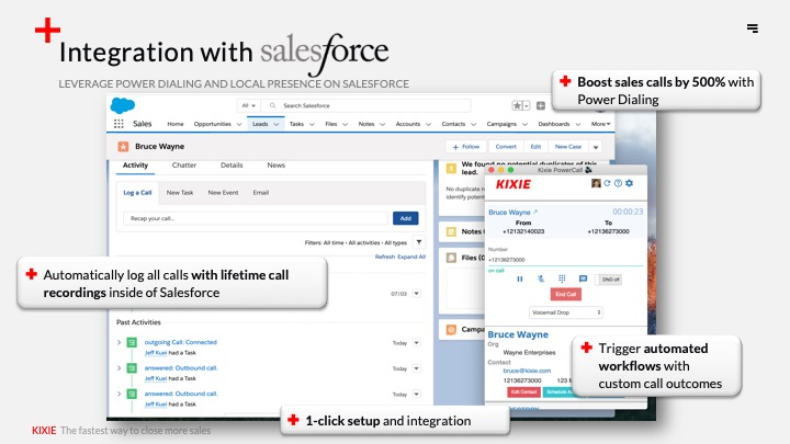 Automatically track and record phone calls, SMS messages, voicemails, and notes in your CRM.