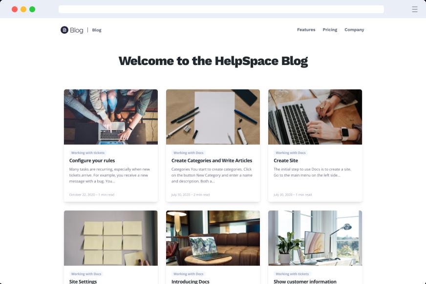 Blog - Self Service