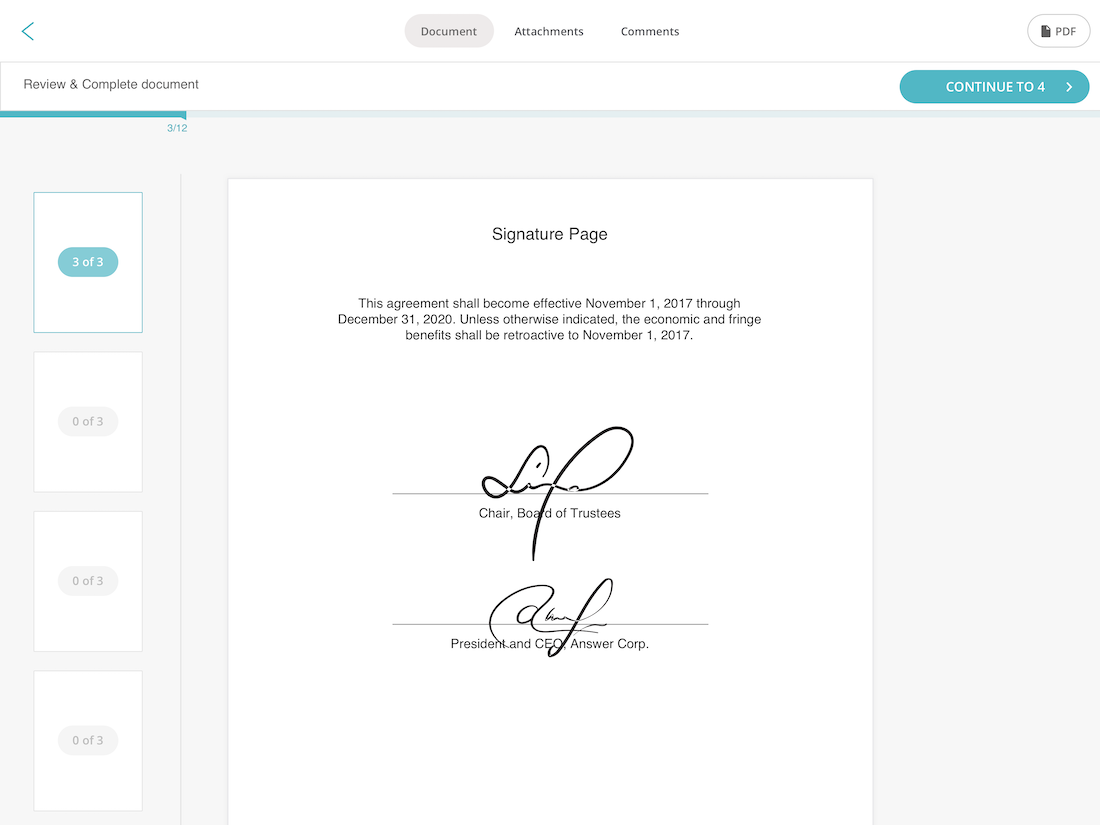 Easy Document Signing