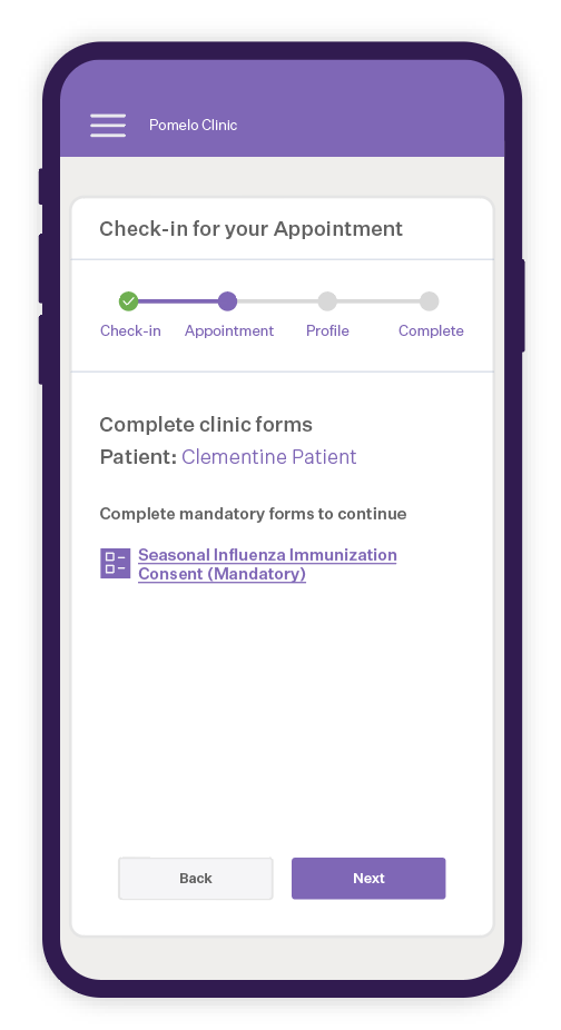 Allow your patients to self check in using their mobile device and save up to 90 hours of staff-time per employee, per month.