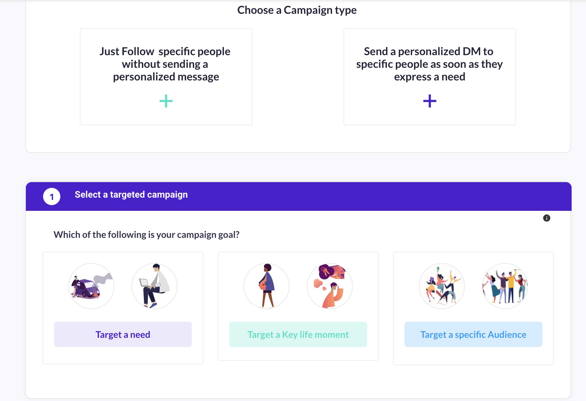 Set up a campaign to reach hidden audiences