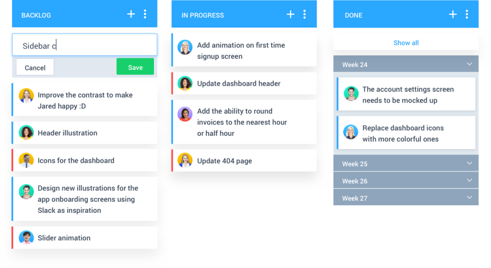 Hubstaff Tasks Software - Kanban view