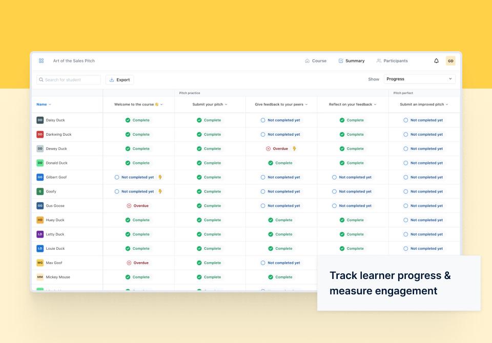 Eduflow Software - Eduflow engagement tracking
