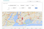 Carecenta screenshot: Carecenta allows users to search the availability of employees in the vicinity of a client