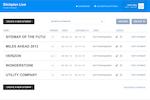 Slickplan screenshot: Dashboard