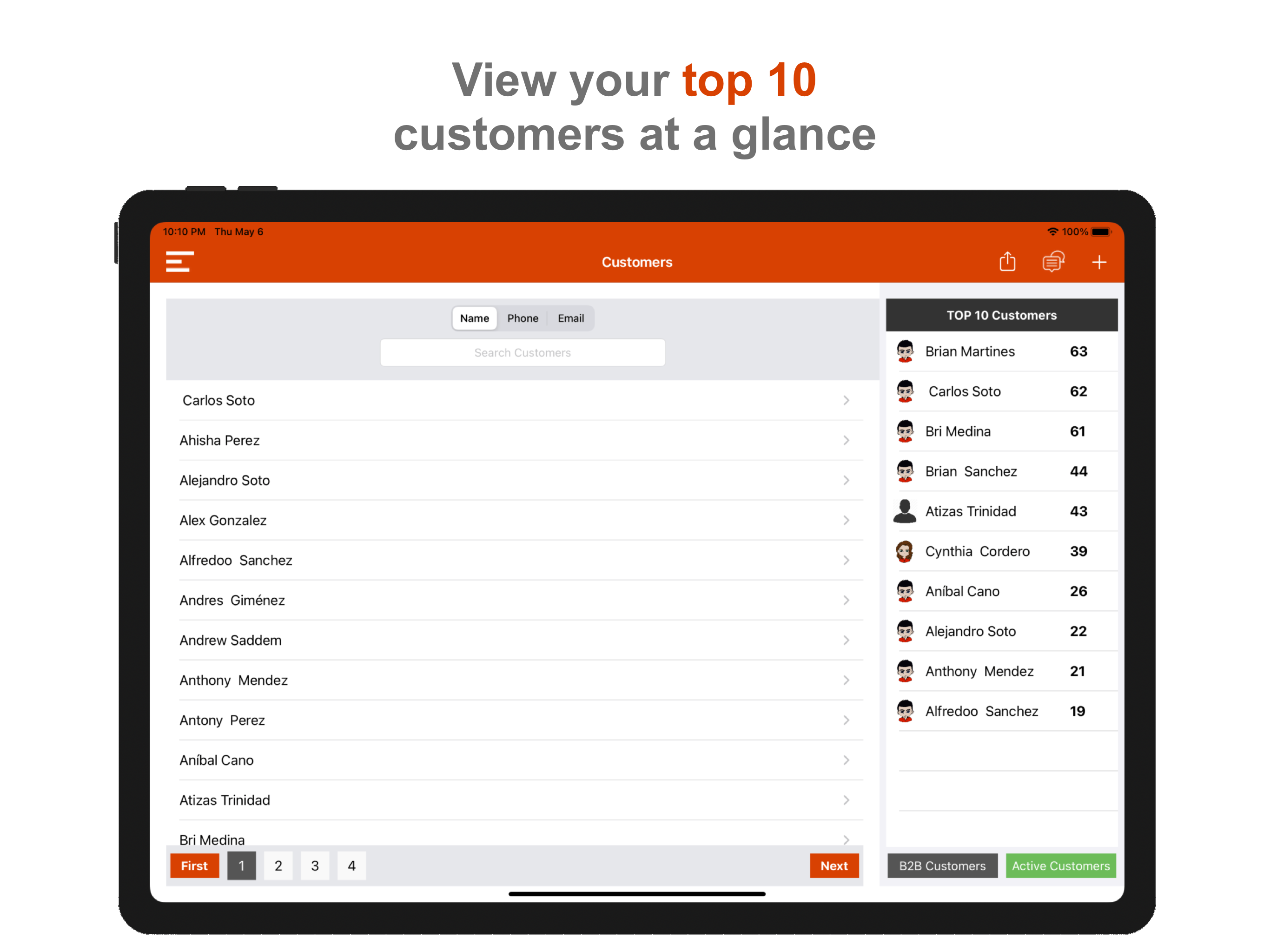 View Top Customers